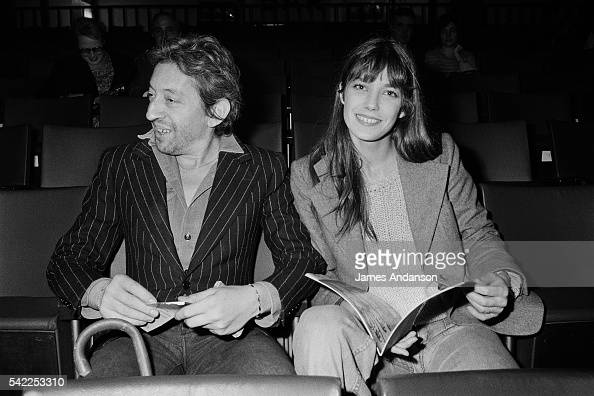 French singer and songwriter Serge Gainsbourg with partner
