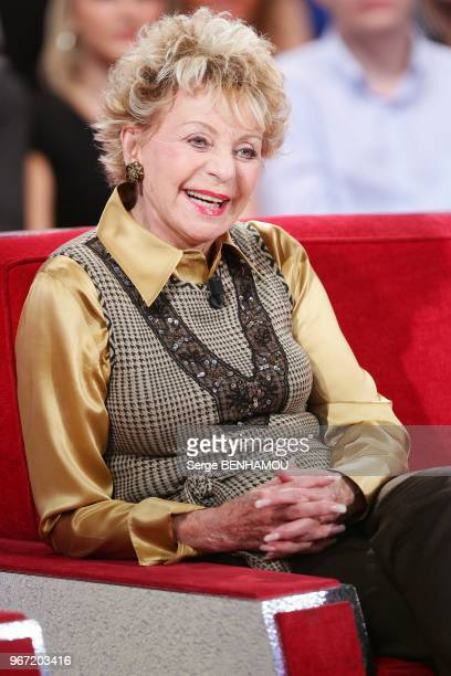 French singer Annie Cordy attends 'Vivement Dimanche' Tv Show in Paris France on October 13 2010