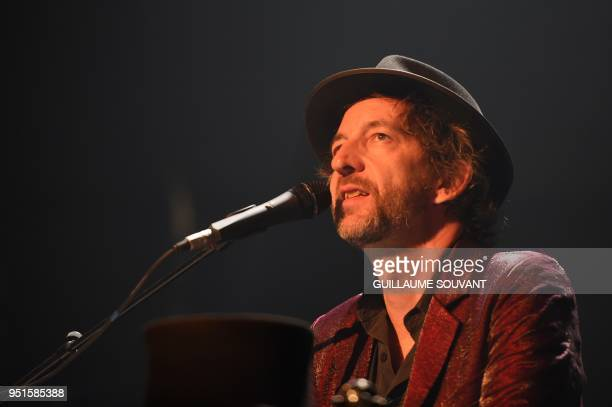French singer Arthur H performs on stage during the 42th edition of 'Le Printemps de Bourges' rock and pop music festival in Bourges on april 26 2018
