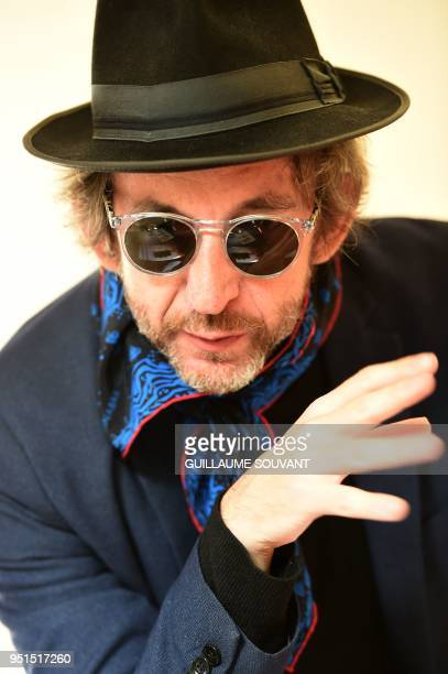French singer Arthur H poses during the 42nd edition of 'Le Printemps de Bourges' rock and pop music festival in Bourges on April 26 2018