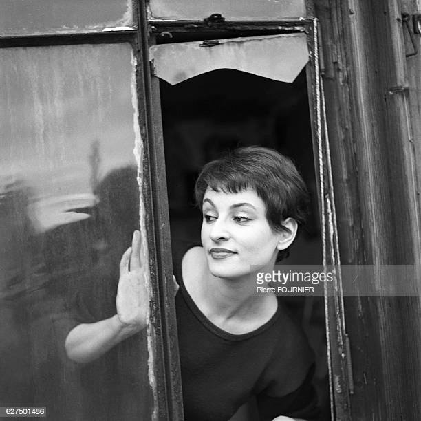 French Singer Barbara at her home in Paris 1958