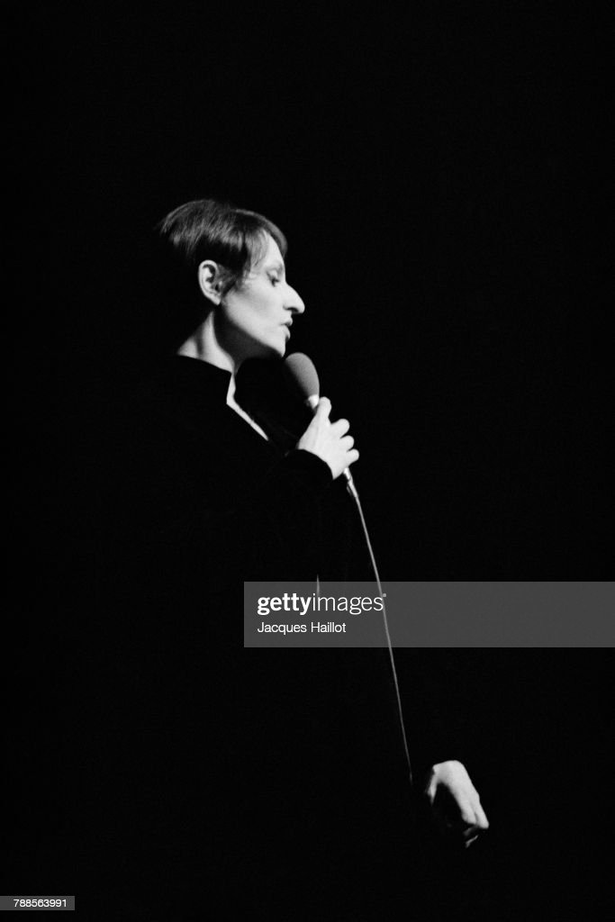 French Singer Barbara on Stage at the Olympia Hall