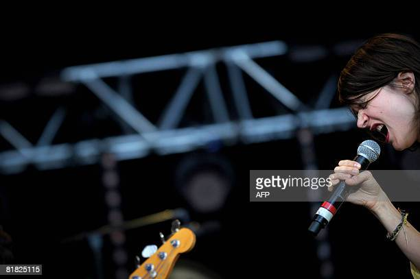 French singer Camille performs on stage in the La Bande Originale show on July 04 2008 in Belfort eastern France during the 20th edition of the...