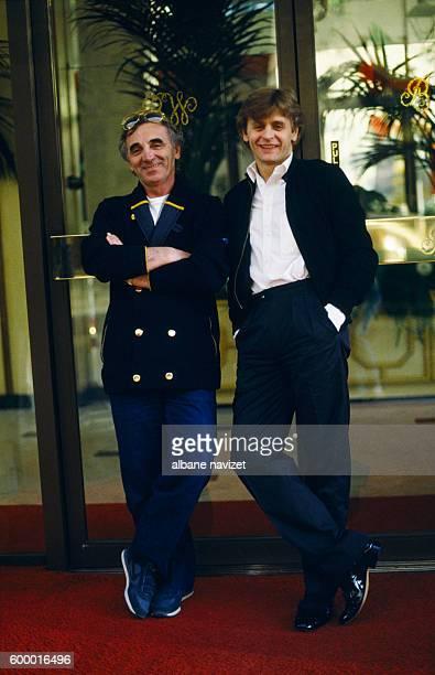 French singer Charles Aznavour and Russian ballet dancer Mikhail Baryshnikov