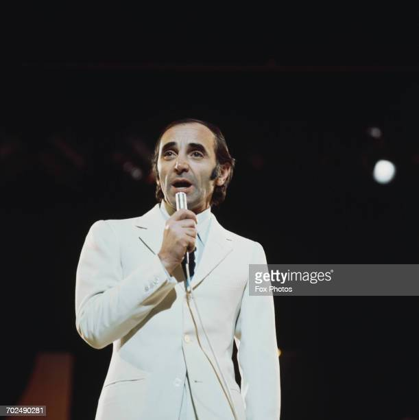 french singer Charles Aznavour in concert June 1970