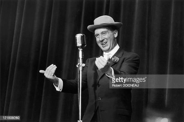 French Singer Charles Trenet In October 1955