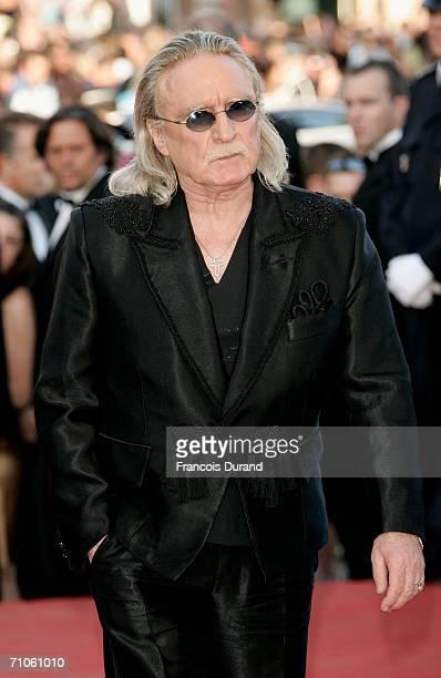 French singer Christophe attends the 'Quand J'Etais Chanteur' premiere at the Palais des Festivals during the 59th International Cannes Film Festival...