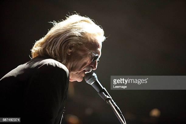 French singer Christophe on stage at the Cité de la Musique in Paris
