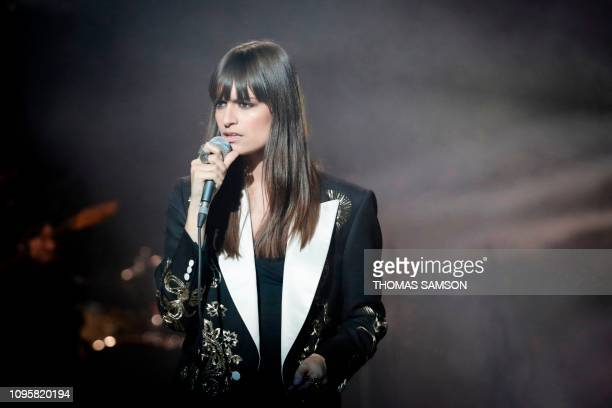 French singer Clara Luciani performs on stage during the 34th Victoires de la Musique the annual French music awards ceremony on February 8 2019 at...