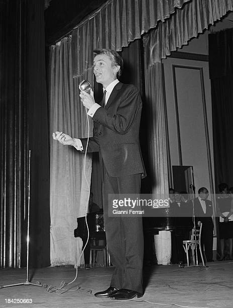 French singer Claude Francois during a performance Madrid Castilla La Mancha Spain