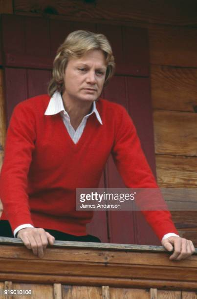 French singer Claude Francois in Leysin Switzerland where he is airing a tv show for the BBC one day before his death 10th March 1978