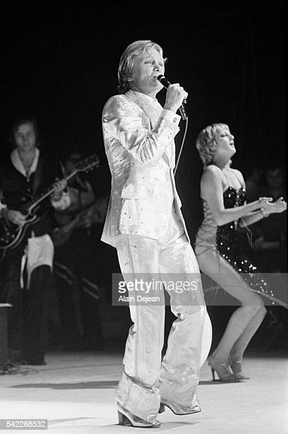 French singer Claude Francois performs on stage in Brussels' Forest National hall