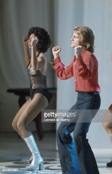 French singer Claude François dancing