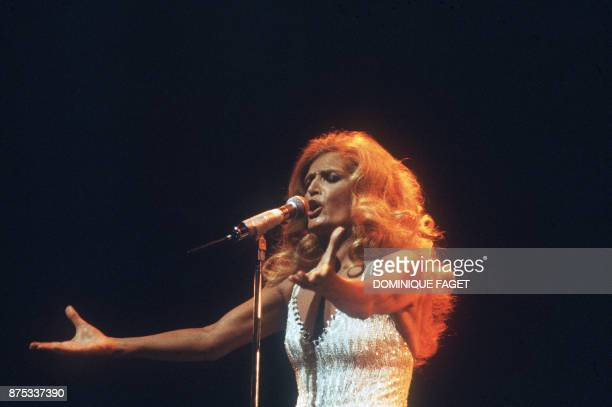 French singer Dalida performs 18 March 1981 at Olympia musichall in Paris Dalida was an Egyptianborn singer of Italian origin making her career in...