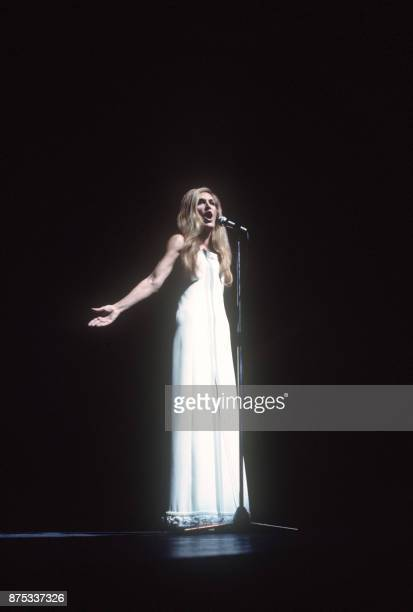 French singer Dalida performs in January 1974 at Olympia musichall in Paris Dalida was an Egyptianborn singer of Italian origin making her career in...