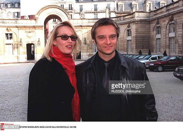 French singer David Hallyday and wife, Estelle