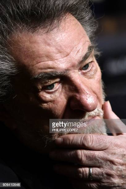 French singer Eddy Mitchell looks on during the 43rd edition of the Cesar Awards ceremony at the Salle Pleyel in Paris on March 2 2018