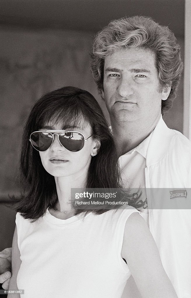 French Singer Eddy Mitchell with His Wife Muriel : Photo d'actualité