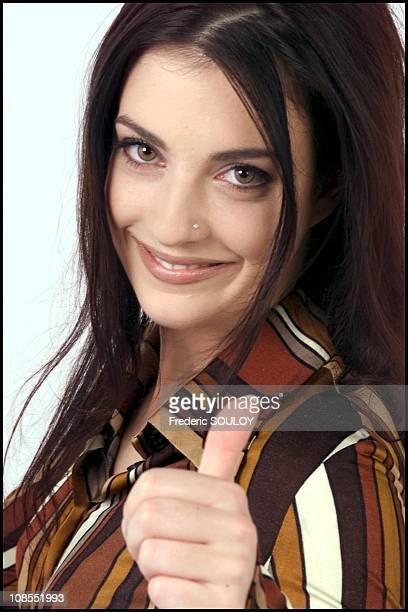 French singer Eve Angeli in France in December 2001