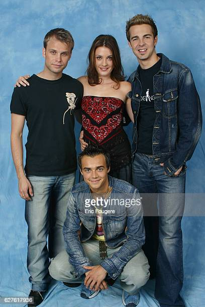 French singer Eve Angeli with the band 'A1'