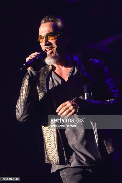 "French Singer Florent Pagny performs at Palais Nikaia for ""55 Tour"" on October 21, 2017 in Nice, France."