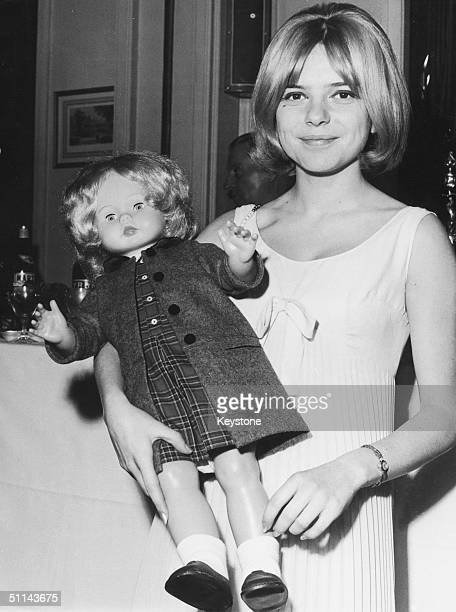 French singer France Gall at a Paris restaurant 25th March 1965 for a reception in her honour after she won the Eurovision Song Contest with Serge...