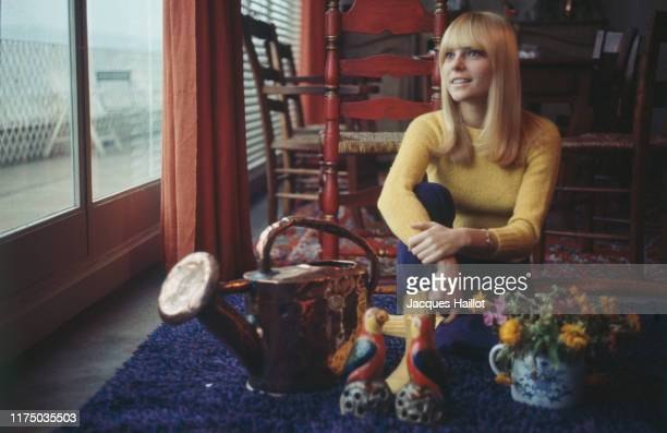 French singer France Gall at home 3d January 1967