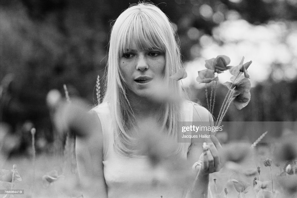 French singer France Gall at home in Pourrain.