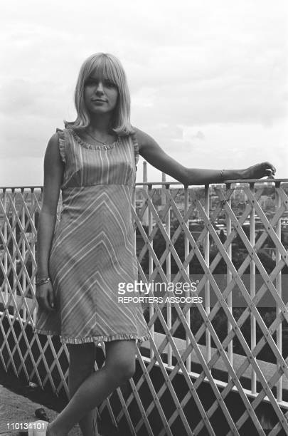 French singer France Gall in France on July 6th1966