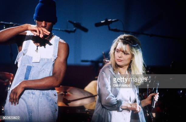 French singer France Gall performs on stage at Vorst Nationaal, Brussels, Belgium, 11th November 1993.