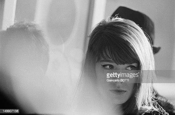 French singer Francoise Hardy in the sixties