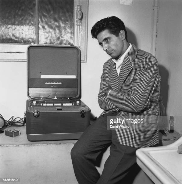 French singer Gilbert Bécaud 1957