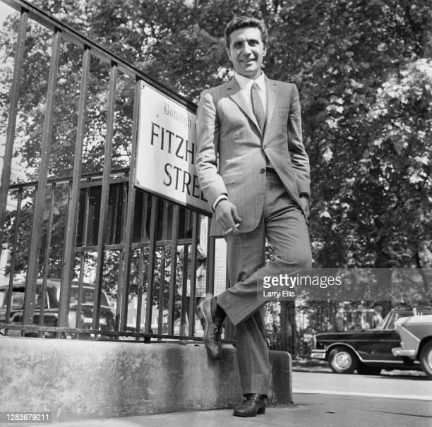 French singer Gilbert Bécaud on Fitzhardinge Street in London UK 7th September 1966
