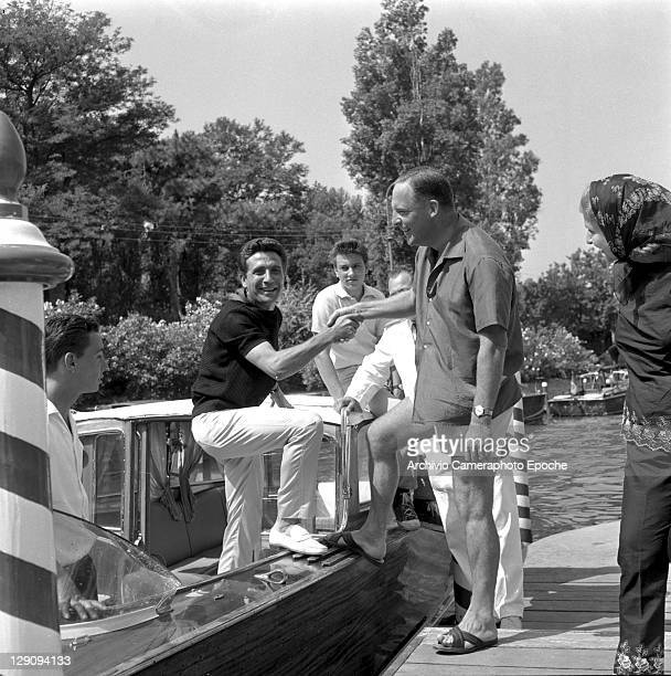 French singer Gilbert Becaud in Lido Venice 1962