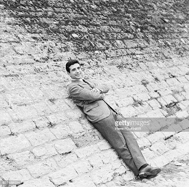 French Singer Gilbert Becaud relaxes in Lyon