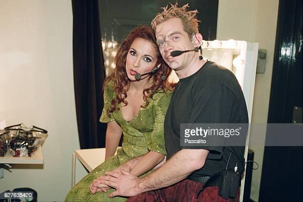 French singer Helene Segara is Esmeralda and Quebecois singer Garou is Quasimodo in the musical comedy Notre Dame de Paris