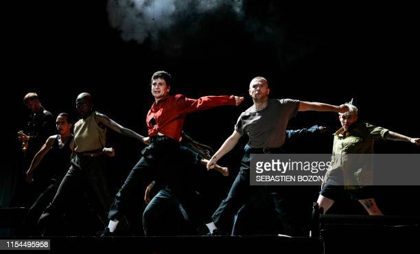 French singer Heloise Letissier aka Chris or Christine and the Queens performs on stage during the 31st Eurockeennes rock music festival in Belfort...