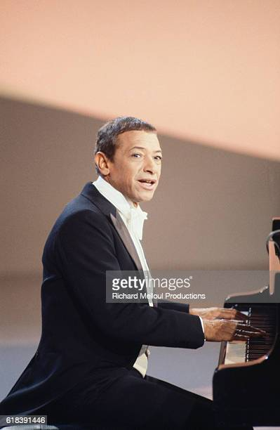 French singer Henri Salvador records a Christmasspecial television show