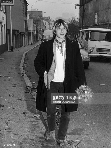 French Singer In The Paris Streets In October 1985