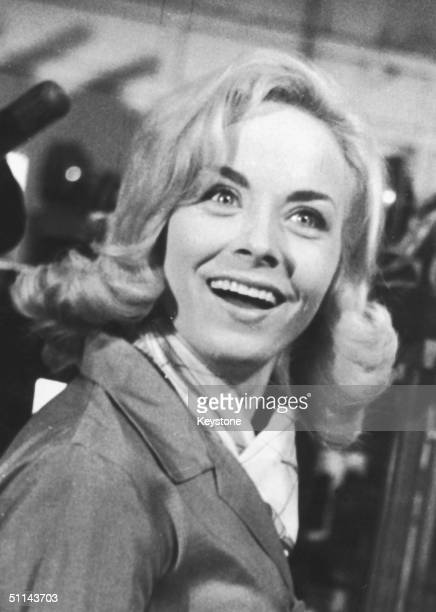 French singer Isabelle Aubret is delighted with her victory in the Eurovision Song Contest with her song 'Un Premier Amour' 18th March 1962