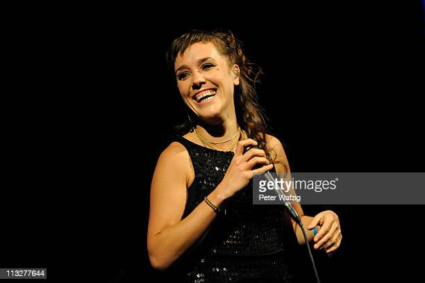 French singer Isabelle Geffroy aka Zaz performs on stage at the EWerk on April 29 2011 in Cologne Germany