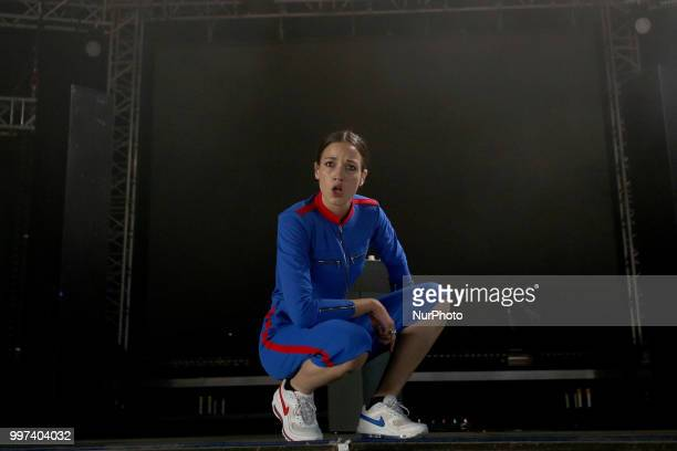French singer Jain performs at the NOS Alive 2018 music festival in Lisbon Portugal on July 12 2018