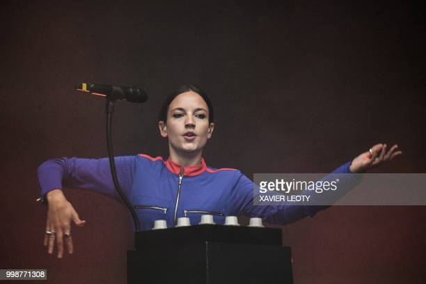 French singer Jain performs during the 34th edition of the Francofolies Music Festival in La Rochelle southwestern France on July 14 2018