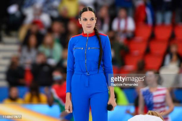 French singer Jain performs during the opening ceremony of the FIFA women's World Cup on June 7 2019 in Paris France