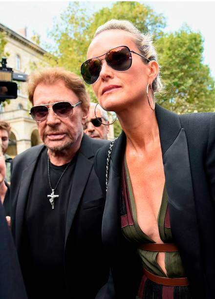 french singer johnny hallyday and his wife laeticia. Black Bedroom Furniture Sets. Home Design Ideas