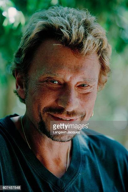 French singer Johnny Hallyday prepares his concert 'Allume le feu' in September at Stade de France near Paris