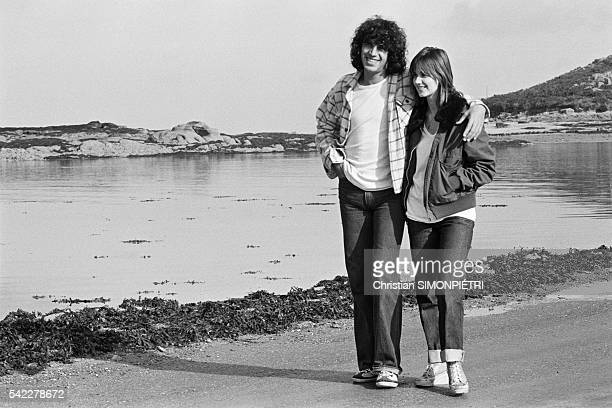 French singer Julien Clerc and his partner actress MiouMiou