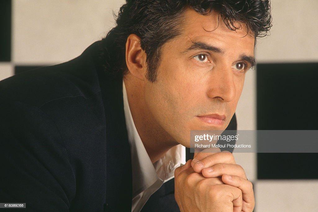 French Singer Julien Clerc : Nachrichtenfoto