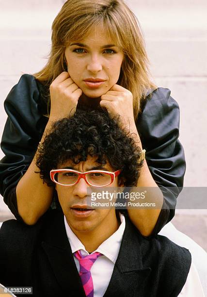 French Singer Laurent Voulzy with Actress Veronique Jannot