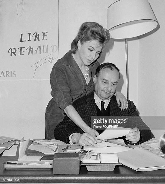 French singer Line Renaud and her husband french composer Loulou Gasté